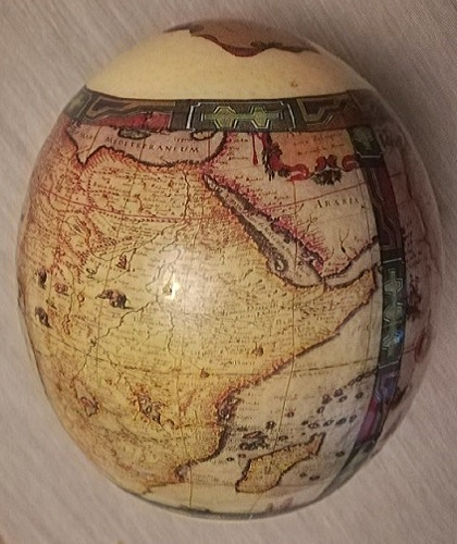Decoupage Ostrich Eggs Hand Crafted In South Africa