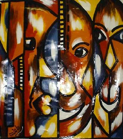 African  on African Art Paintings