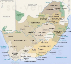 South Africa Map Images.South Africa Map