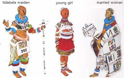 ndebele girl dons the ceremonial clothing of the newly admitted